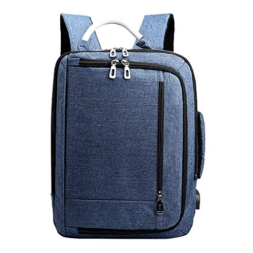 (Claystyle Fashion Multi-Functional Anti-Theft Backpack High-Capacity Laptop Bag with USB Blue)