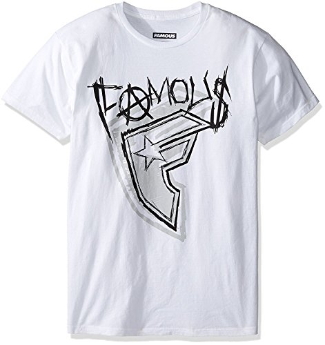 Famous Stars and Straps Men's Wild Sketch T-Shirt, White 2XL]()
