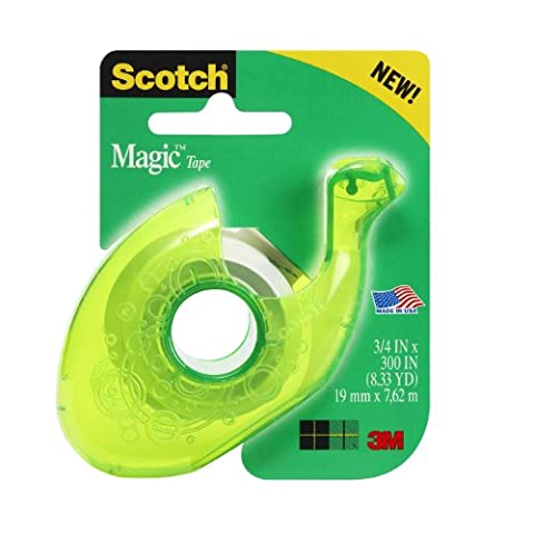 Scotch Tape with New Designer Dispenser, Assorted Colors, 0.75 x 300 inches (Designer Dispenser)