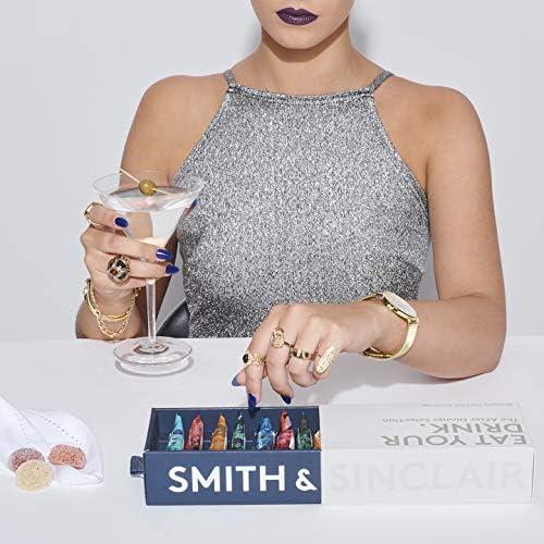 Smith & Sinclair Gominolas alcohólicas con sabor a cóctel, selección «The Party» de ron blanco, prosecco, Aperol y ginebra, caja de 8