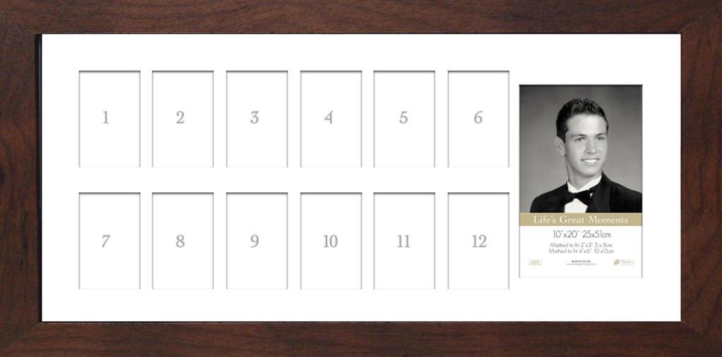 Timeless Expressions Anna School Daze Wall Frame Espresso 10 x 20