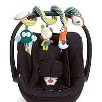 CRAVOG Baby Bett Activity-Spirale Kinderwagen Spielzeug