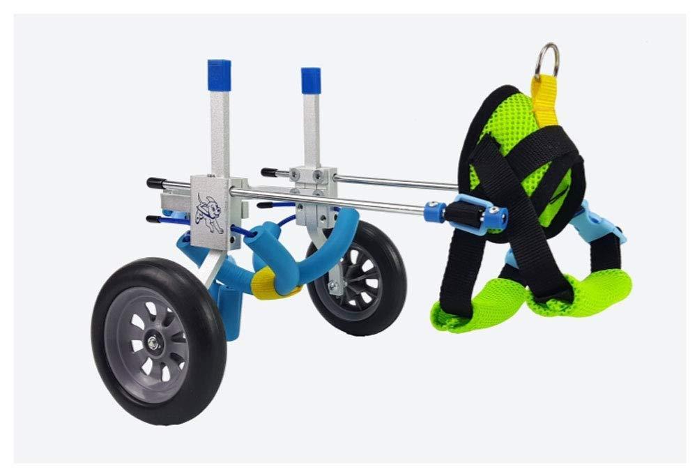 携帯用調節可能な犬用車用ペット車椅子(XXS-XL)、背の高さ16-68 cm、体重150 kg、後脚の修理、軽量アルミ合金、猫の親友 (サイズ さいず : Xs xs) B07QK57T8G  S s S s