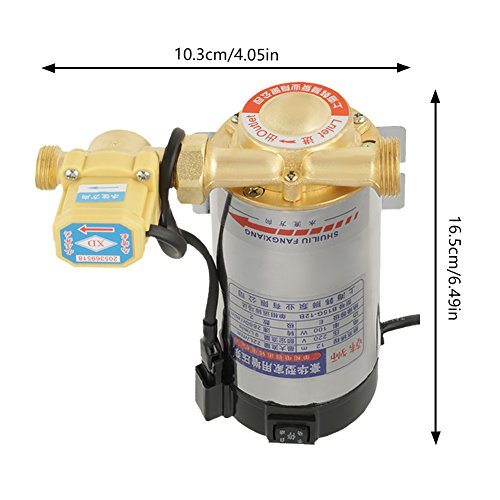220V 100W Auto Household Stainless Steel Boost Pump for Tap Water Pipeline Sink facucet Shower Pressure Water Booster by Hilitand (Image #1)