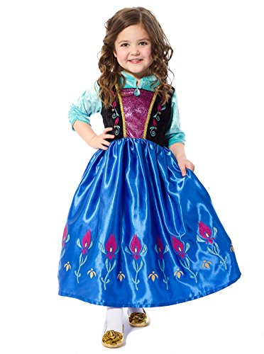 [Little Adventures Satin Scandinavian Princess Girls Costume - Large (5-7 Yrs)] (Big Sister Little Sister Costumes)