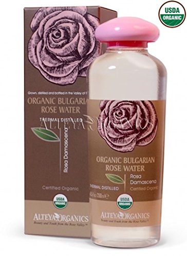Alteya USDA Organic Bulgarian Rose Water (From New 2017 Rose Harvest) - LARGE, 250ml/8.5oz, Special Thermal-Distilled, From Our Rose Farm and Distillery