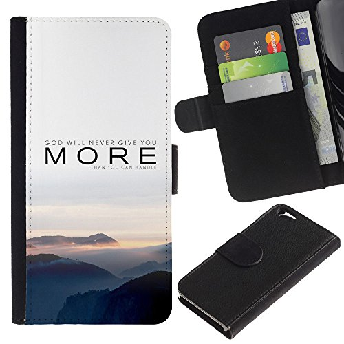 MobileMart / Apple Iphone 6 4.7 / more nature sunset fog grey mountains / Cuir PU Portefeuille Coverture Shell Armure Coque Coq Cas Etui Housse Case Cover Wallet Credit Card