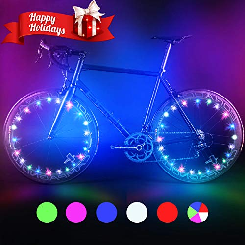 Bodyguard Bike Wheel Lights - Auto Open and Close - Ultra Bright LED - Bike Wheel Spoke/Light String (1 Pack) - Colorful Bicycle Tire Accessories- Waterproof (Green)