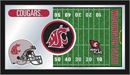 Holland Bar Stool Co. Washington State Cougars HBS Football Framed Hanging Glass Wall Mirror (26