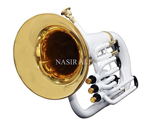 Nasir Ali Bb Euphonium White 3 Valve by NASIR ALI