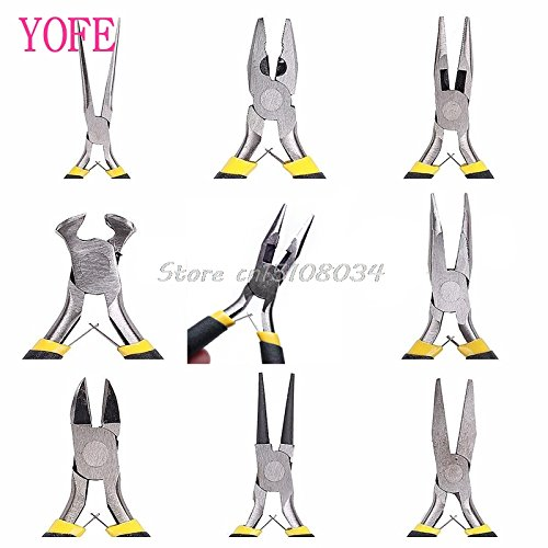 AMZVASO - Jewellery Making Tools Beading Pliers Round Flat Wire Side Cutters Kit Set (Size 3)