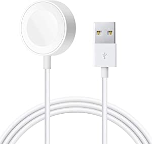[Updated Version] Watch Charger, TISSYEE Charging Cable MFi Certified Magnetic Wireless Portable Charger Charging Cable Cord Compatible for Apple Watch Series SE 6 5 4 3 2 1 (1m)