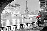 Paris - Eiffel Tower Kiss Poster 36 x 24in