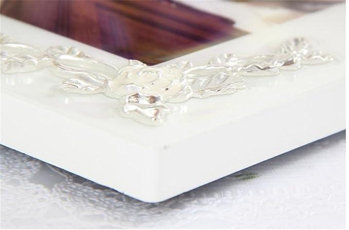 Marco de fotos Vintage set portaretrato cristal porcelana/moda 7 pulgadas 10 pulgadas , 7 inch: Amazon.es: Hogar