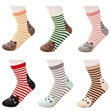 ACHIEWELL Women's Cute Animal Cotton Socks One Size Fits All | 5 Pairs (One Size, Cat 6 Pairs)