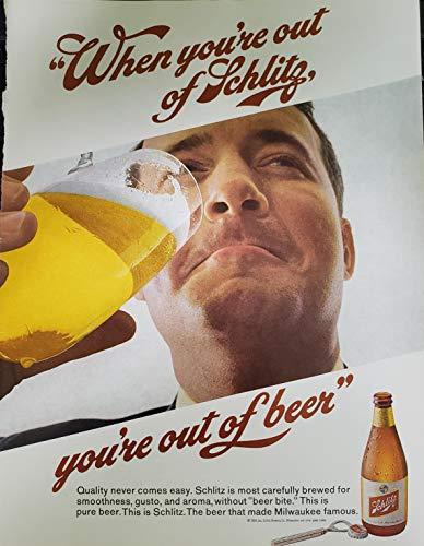 """Vintage Schlitz Beer Magazine Ad-""""When you"""