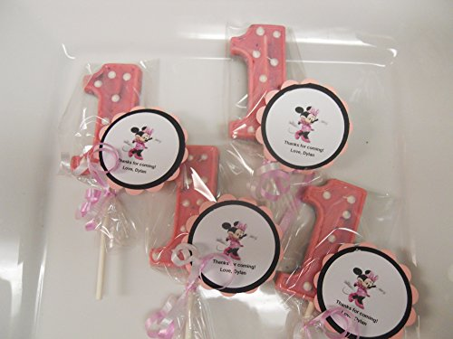 12 Disney Minnie Mouse Themed 1st Birthday Favors