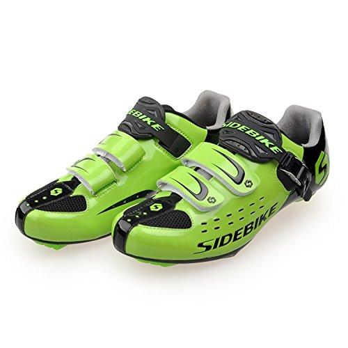 Männer und Frauen Breathable Casual Radfahren Schuhe mit Nylon Tpu Sohlen für Rennrad Grün