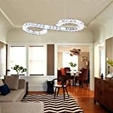 LightInTheBox@Lighting Contemporary Crystals LED Chandelier Ceiling Light Living Room D+D Ring Pendant Light Special for Hall Voltage=220-240V