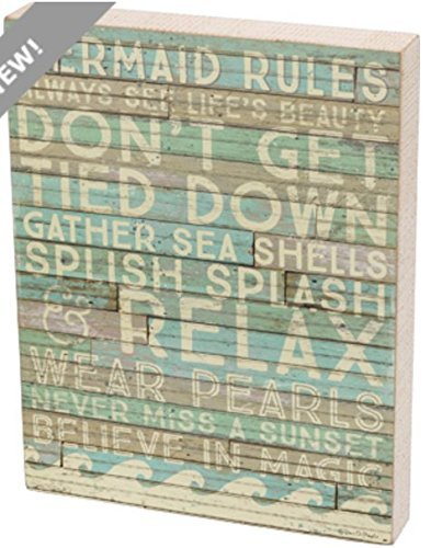 Primitives by Kathy - Box Sign - Mermaid Rules -