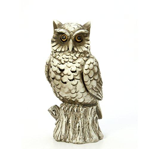 """Hosley 10"""" High Incense Cone Smoking Owl Holder Outdoor Gard"""