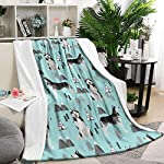 Unicorns Farting Siberian Husky Dog and Mountains Summer Thick Blanket Cozy Couch Warm Throw Blanket Flannel Fleece Blanket, 59 X 79 Inch 6