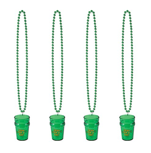 Beads St Pats Glass (Beistle S30593AZ4, 4 Piece Beads with St Pat's Glass, 33