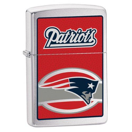 Zippo NFL Patriots Lighter (Silver, 5 1/2 x 3 1/2 cm) ()
