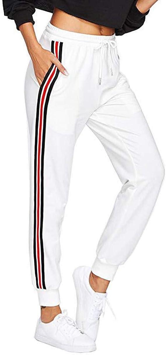 Beautyjourney Pantalones de chándal Sueltos para Mujer Pantalones ...