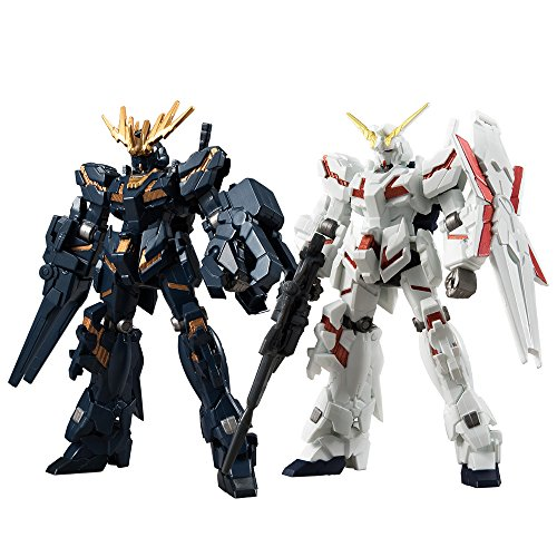 Mobile Suit Gundam Unicorn - ASSAULT KINGDOM EX 10 Unicorn Gundam & Banshee Action Model Figure (CANDY TOY Tentative Name) Bandai