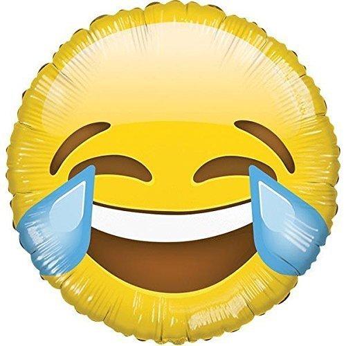 Kaleidoscope Emoji Smiley Laughing Mylar Balloon, 5 Piece
