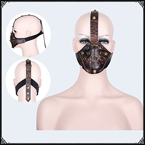 JACKDAINE Steampunk Goth Mask Masculine Cool Personality Punk Willow Breathable Riding Mask ()