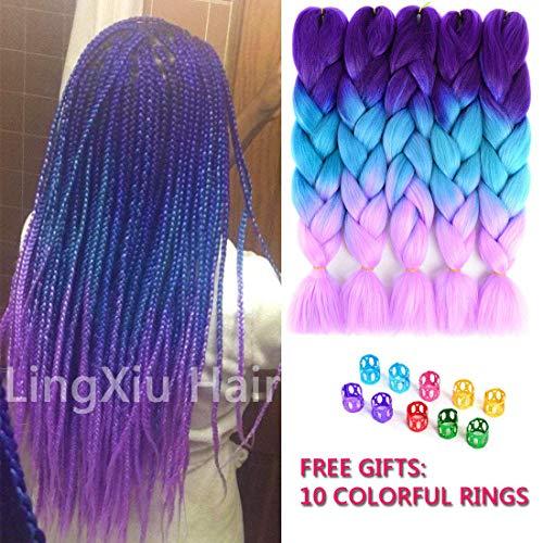 - Ling Xiu Kanekalon Jumbo Braiding Hair 24