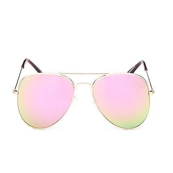 Sunb Gafas de sol para Hombres Mujeres Aviador Polarizado Metal Espejado (Rosa): Amazon.es: Deportes y aire libre