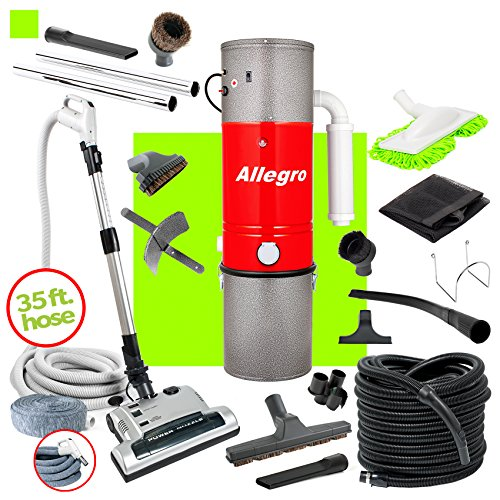 Allegro MU4500 Champion – 6,000 Square Foot Home Central Vacuum System 35 Foot Electric Hose