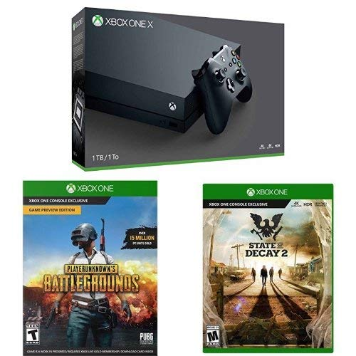 Xbox One X 1TB Console – PLAYERUNKNOWN'S BATTLEGROUNDS Bundle [Digital Code] + State of Decay 2