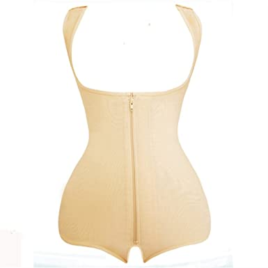 6d67cdc5abc U-MAC Women s Seamless Firm Control Shapewear Faja Open Bust Bodysuit Body  Shaper Black at Amazon Women s Clothing store