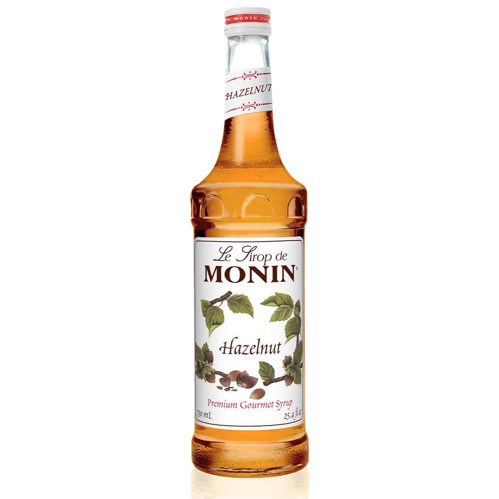 Monin - Hazelnut Syrup, Nutty Taste of Caramelized Hazelnut, Natural Flavors, Great for Mochas, Lattes, Smoothies, Shakes, and Cocktails, Vegan, Non-GMO, Gluten-Free (750 Milliliters), 25.5 Fl Oz