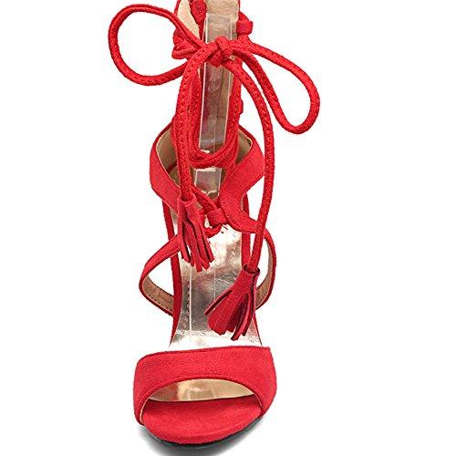 Fashion HeelSandals - Puntera abierta mujer Red