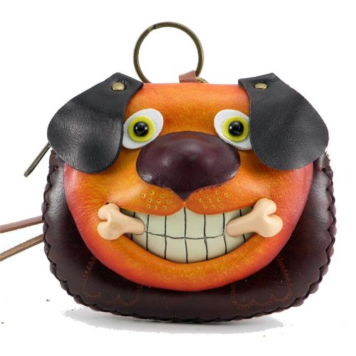 Handmade Leather Dog with Bone Wristlet