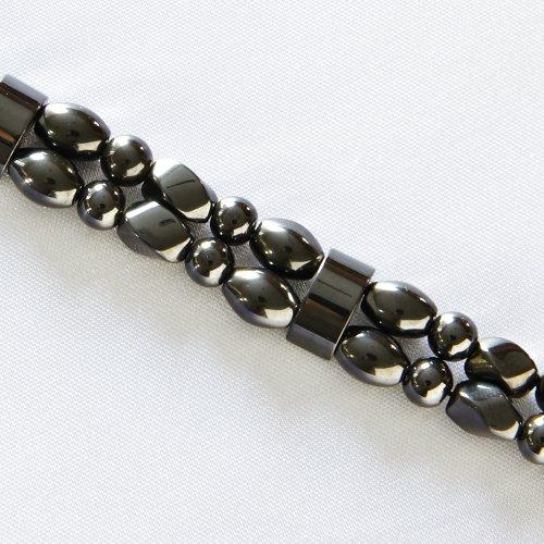 Hampton Magnetite Magnetic Bracelet - Double Strand - Black, 7IN ()