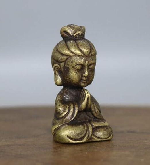 China/'s archaize pure brass Guanyin bodhisattva small Buddha statue