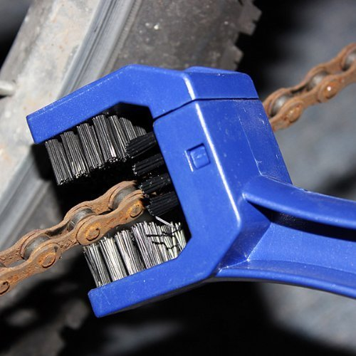 Cycling Motorcycle Bicycle Chain Crankset Brush Cleaner Cleaning Tool (BLUE)