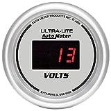 Auto Meter 6593 Digital Silver 2-1/16'' 8-18 Volts Voltmeter Gauge
