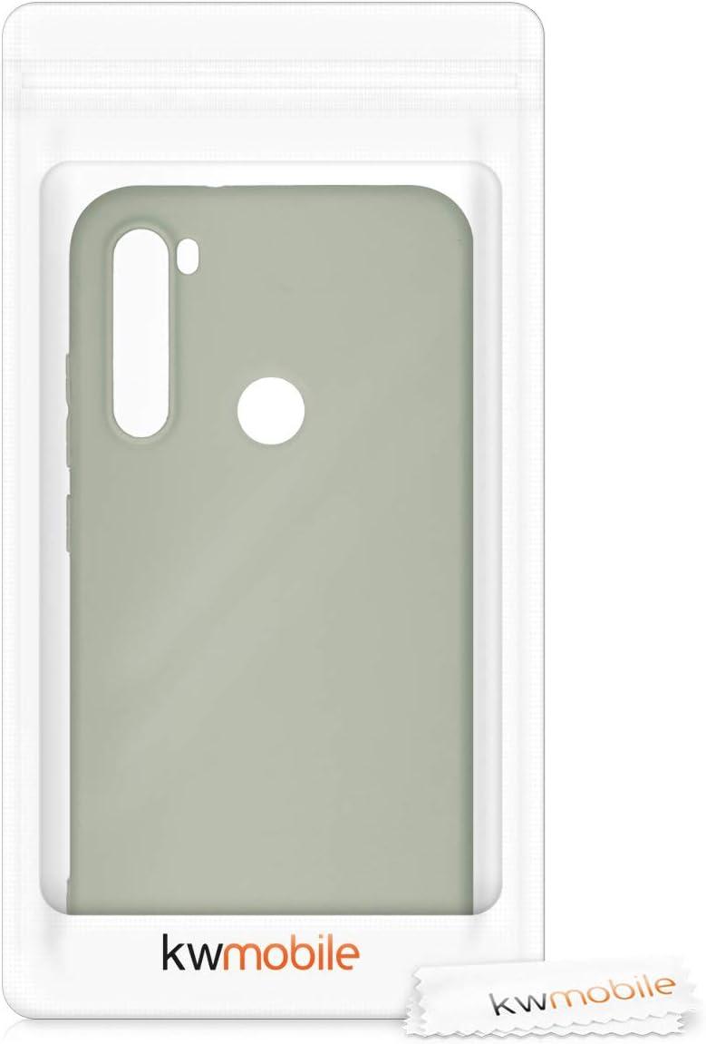 Coque pour Xiaomi Redmi Note 8 kwmobile Coque Xiaomi Redmi Note 8 Housse t/él/éphone Silicone Rouge fonc/é m/étallique