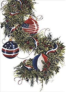 amazon com american flag and tree box of 16 patriotic christmas