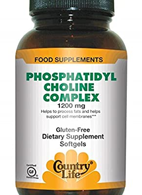 Country Life Phosphatidyl Choline Complex, 1200 mg, 100-Count