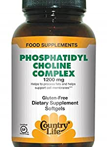 Country Life Phosphatidyl Choline Complex, 1200 mg, 200-Softgels