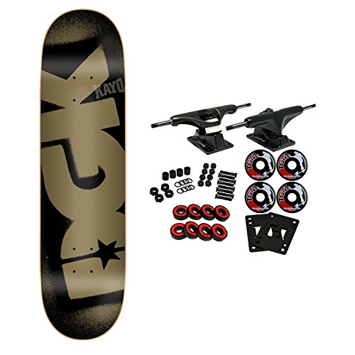 DGK Skateboard Complete Stencil Logo Black 8.0