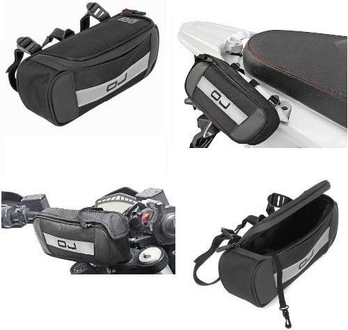 Compatible con Ducati XDIAVEL S Bolso OJ M099 Bolso para FIJACI/ÓN AL Manillar Asas Marco Y AL Estante con Cinturones Ajustables UNIVERSALES Moto Scooter 24X9X5CM